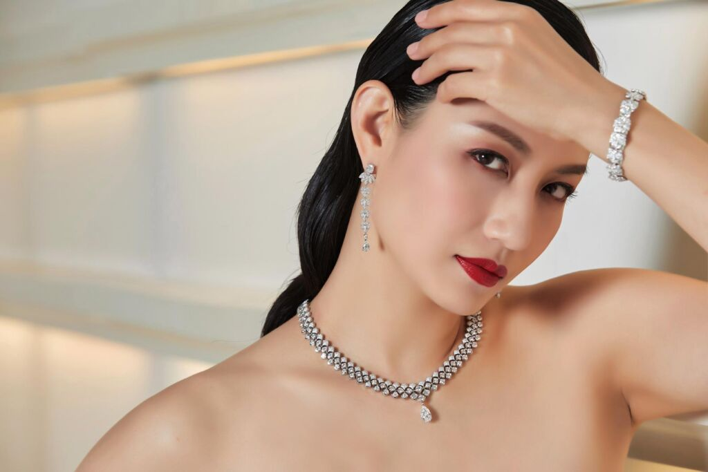A model wearing some of Piaget's High End Jewellery