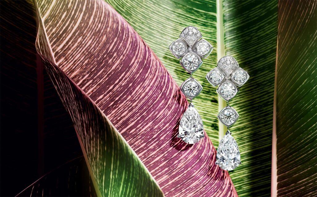 Piaget Wings of Light diamond drop earrings