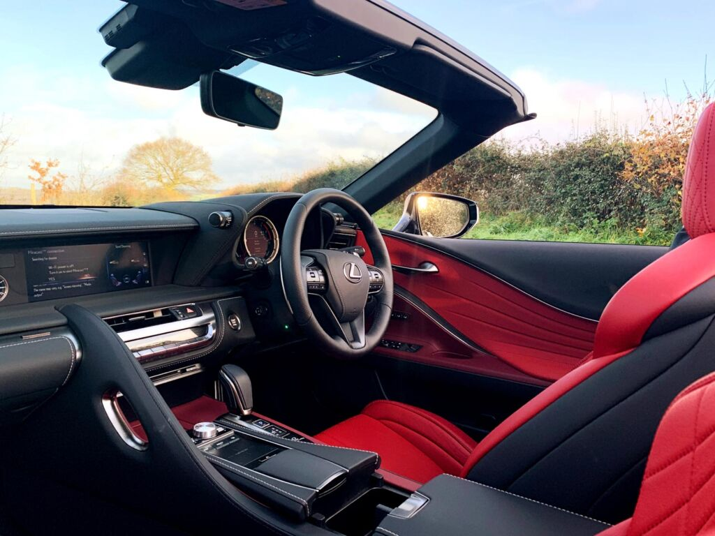 The LC 500 Convertible dashboard