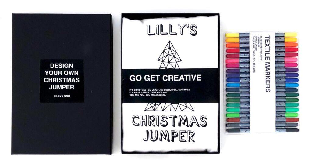 The Luxe Co Colour Your Own Christmas Jumper