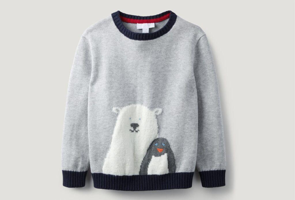 The White Company Polar Bear & Penguin Jumper