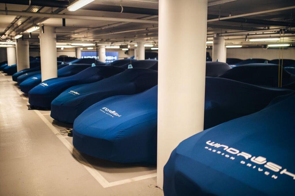 Cars under waps in the secret underground storage facility