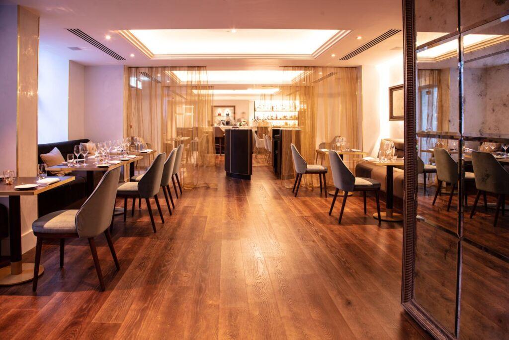 Inside the hotels restaurant