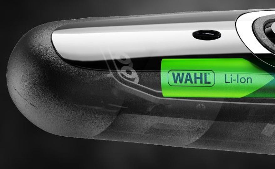 The Wahl AquaBlade is powered by a Lithium-Ion battery