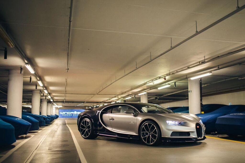A Bugatti at Windrush Car Storage