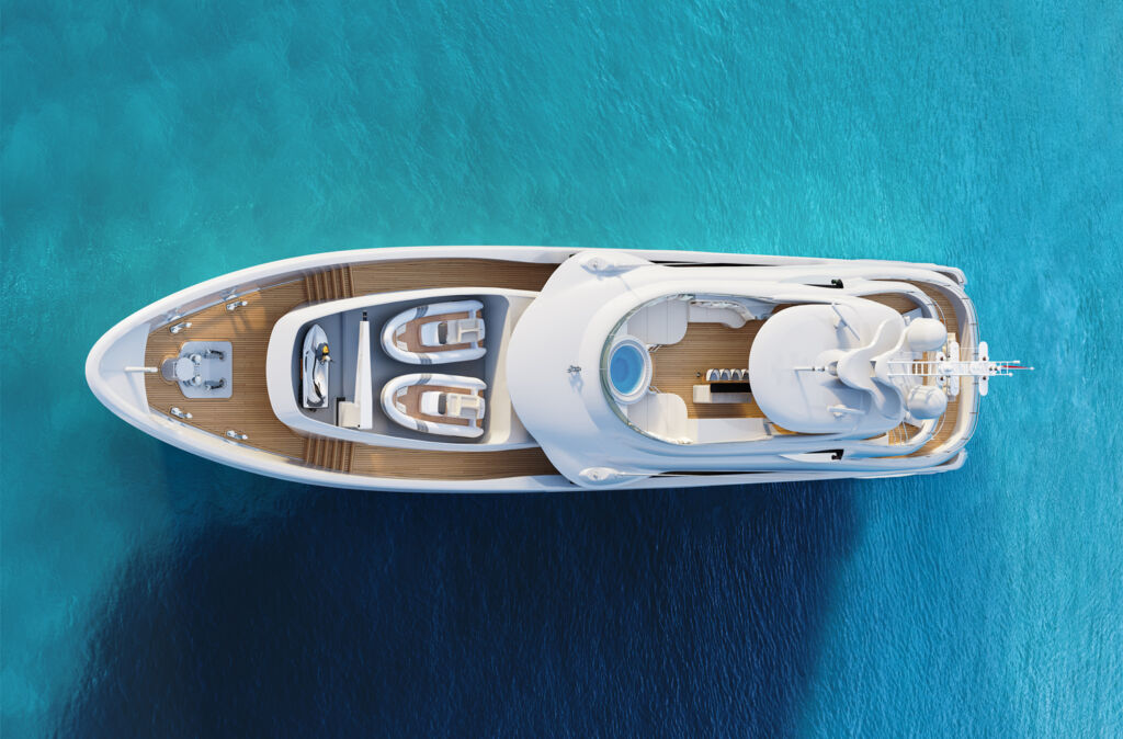 Aerial view of Project Aura by Heesen Yachts