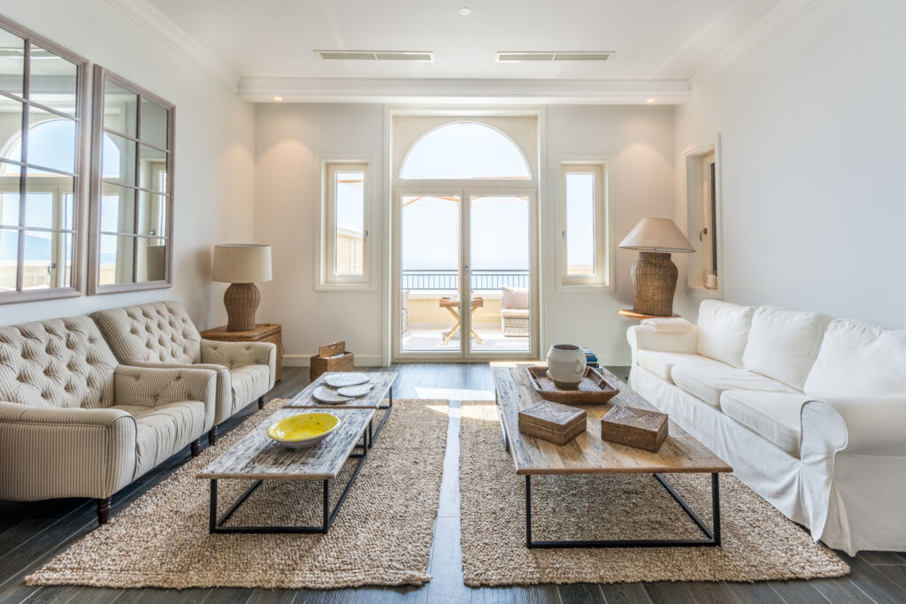 Inside one of the spacious apartments at Luštica Bay