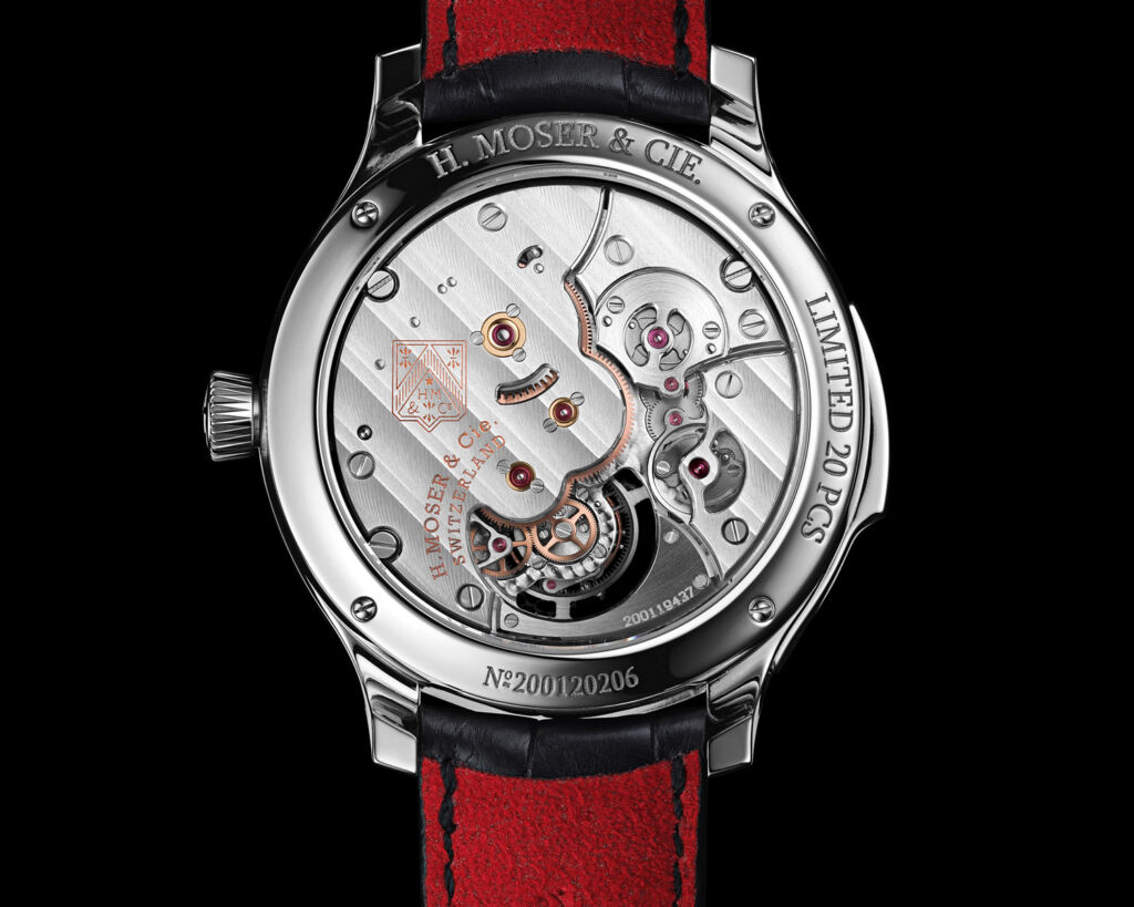 Endeavour Concept Minute Repeater open back showing mechanism