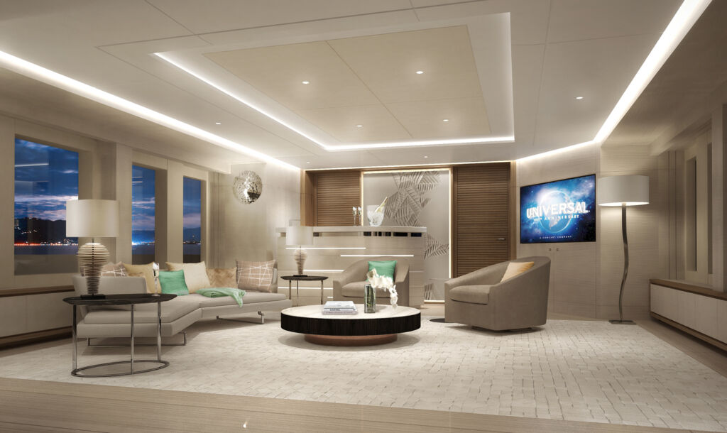 Inside Project Aura's sky lounge