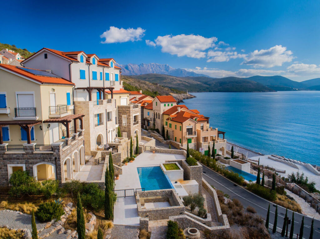 Some of the stunning architecture around Luštica Bay