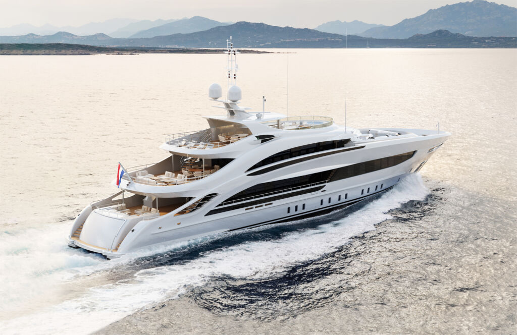 Project Aura by Heesen Yachts out on the sea
