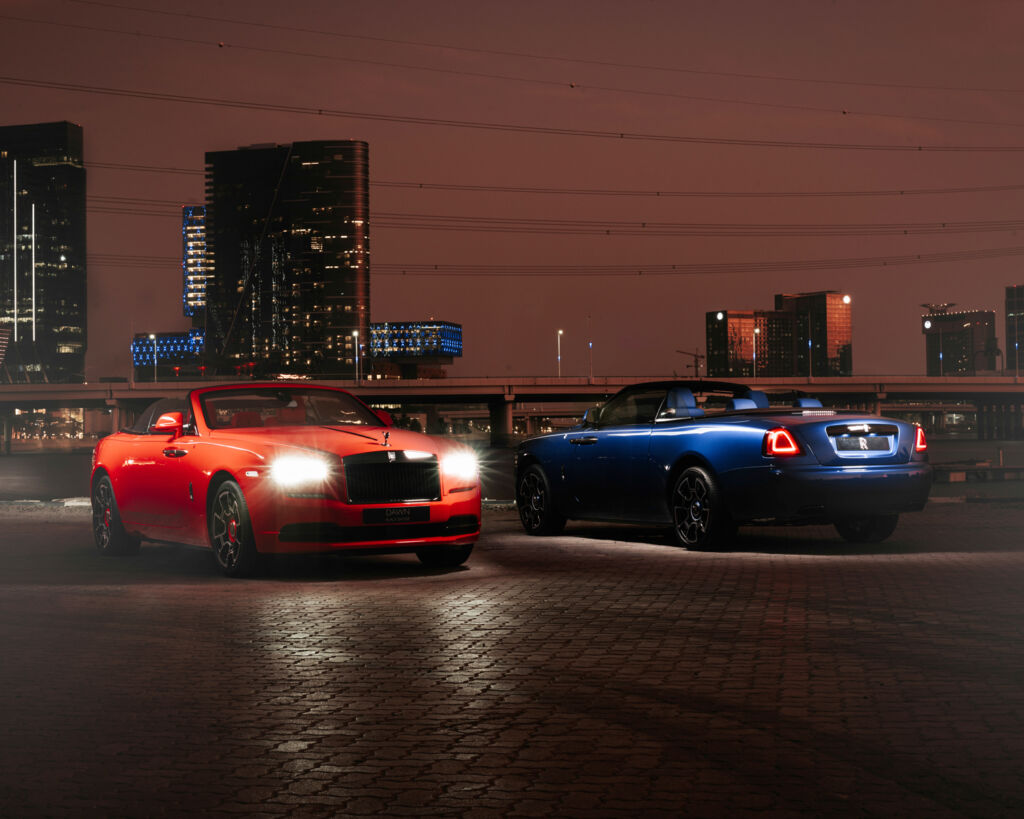 The Rolls Royce Sportive Collection at night