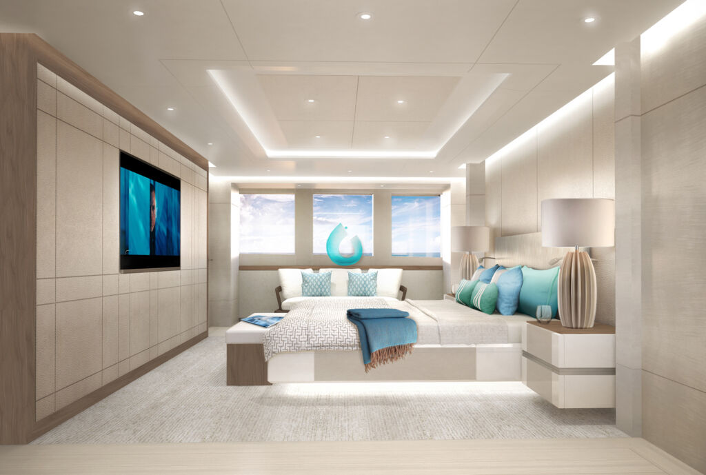 The owners suite inside Heesens Project Aura