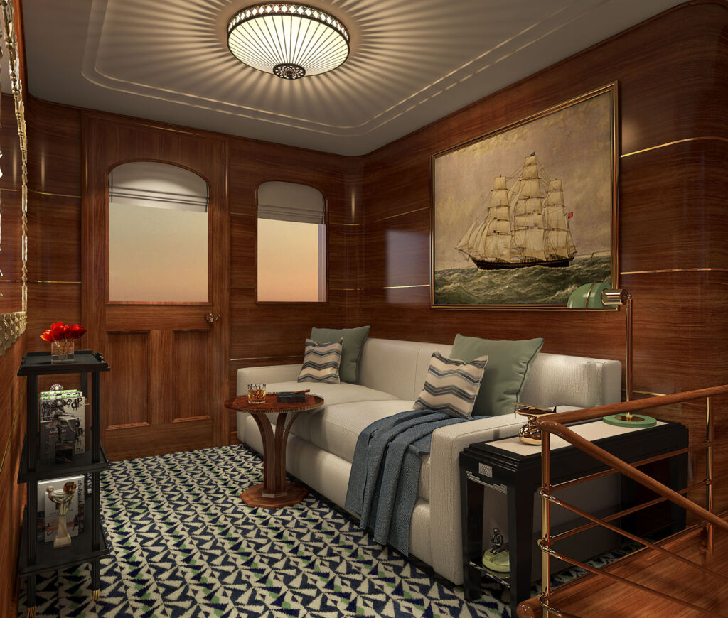 The interior inside the yacht is modern whilst remaining classical in its look