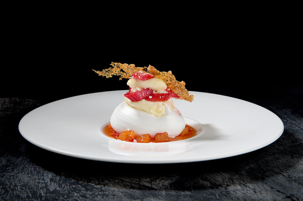 A beautiful dessert made with Yorkshire Rhubarb