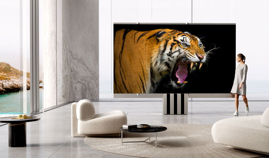 The C SEED M1 Foldable 165-Inch 4K MicroLED Television