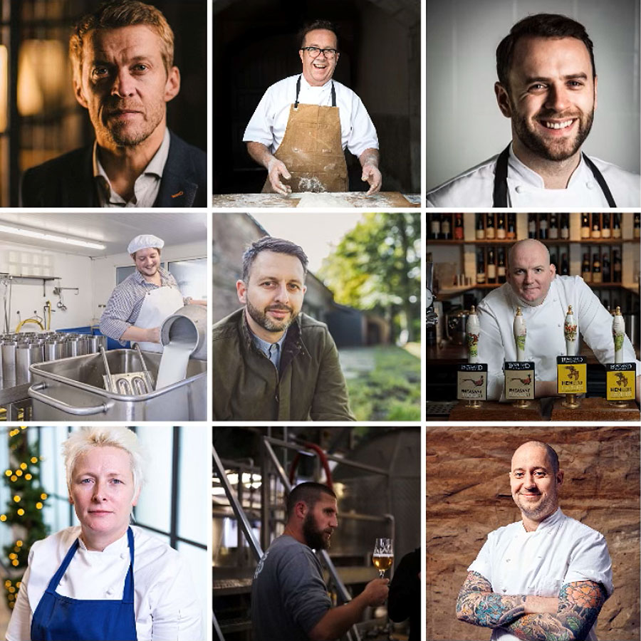 A montage showing the Heft restaurant's guest chefs and tutors