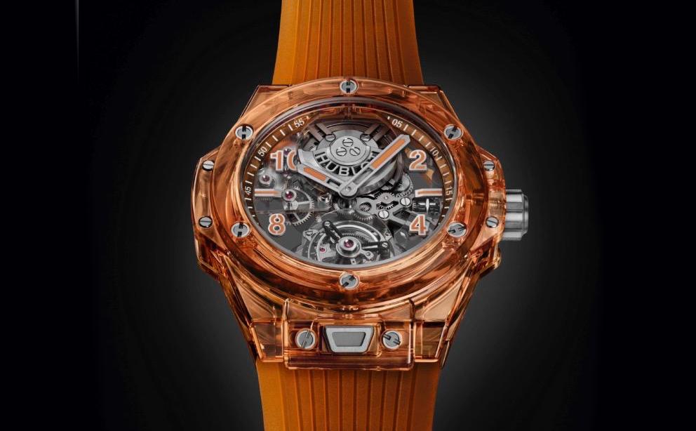 Hublot's Extraordinary Big Bang Tourbillon Automatic Orange Sapphire