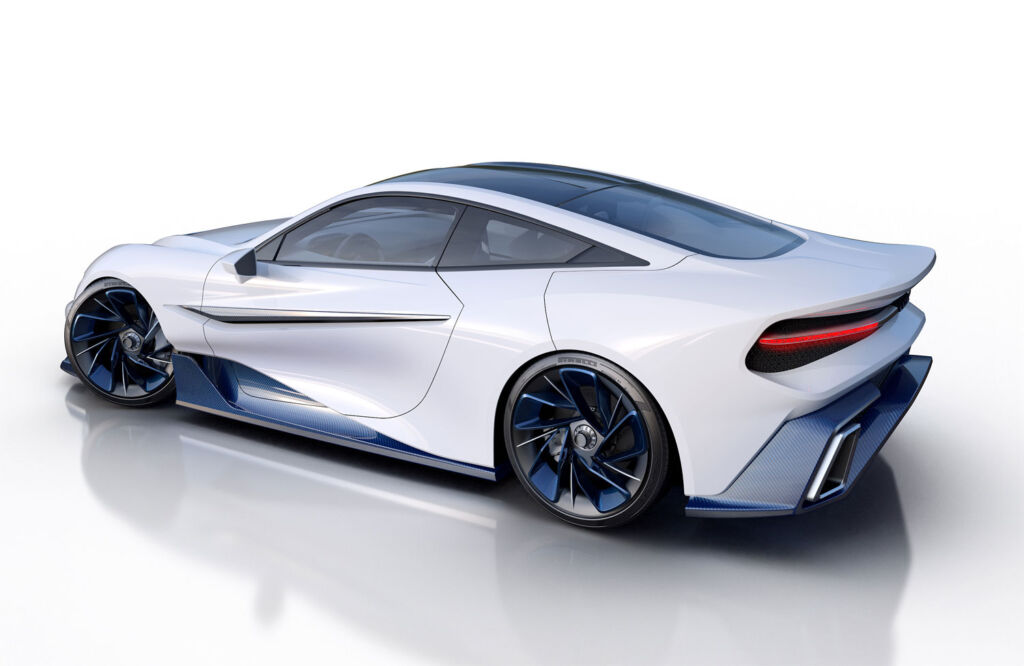 Image showing the cars sleek side profile