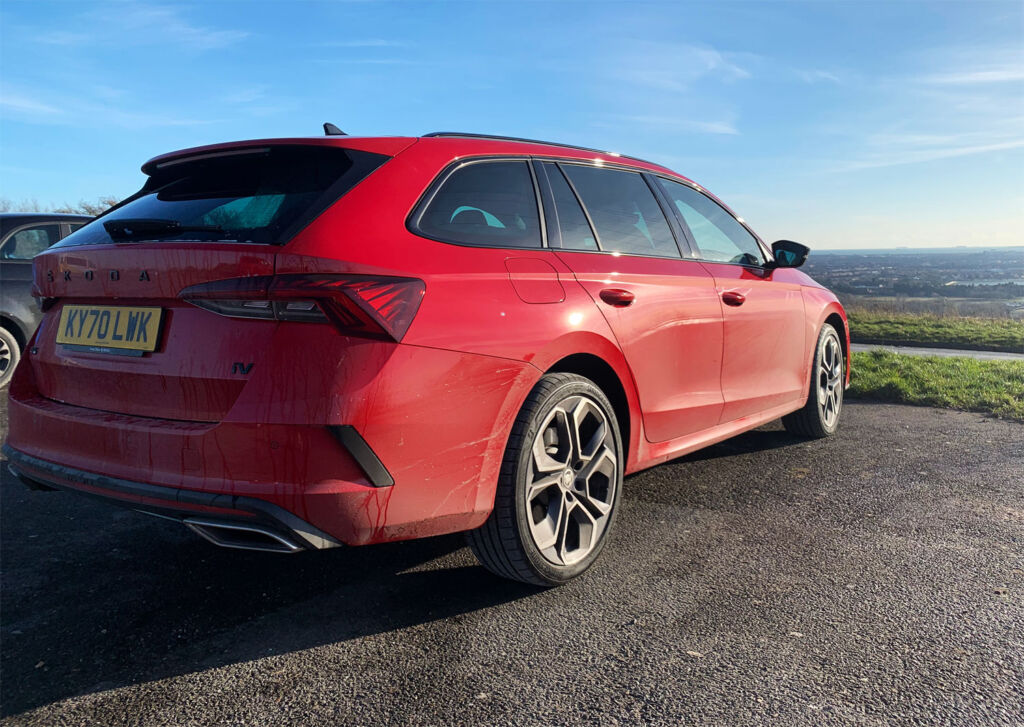 The Octavia VRs parked o a hill in Hampshire, England