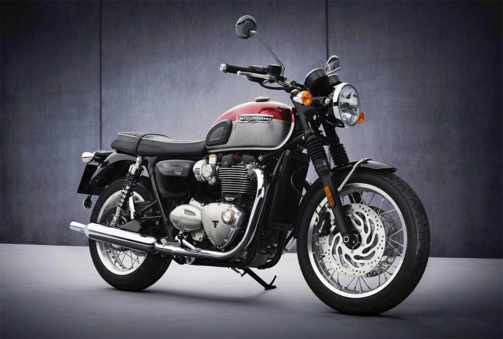 The classically styled Triumph Bonneville T120