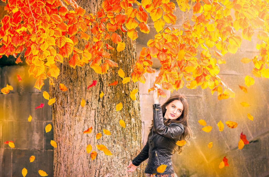 A woman enjoying natural surroundings
