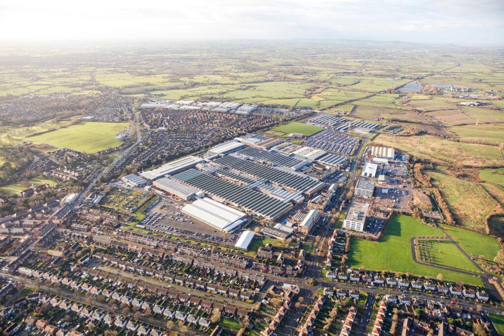 Aerial view of the Bentley Factory in Crewe