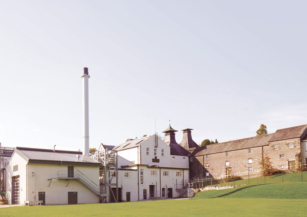 An exterior view of the Mortlach Distillery