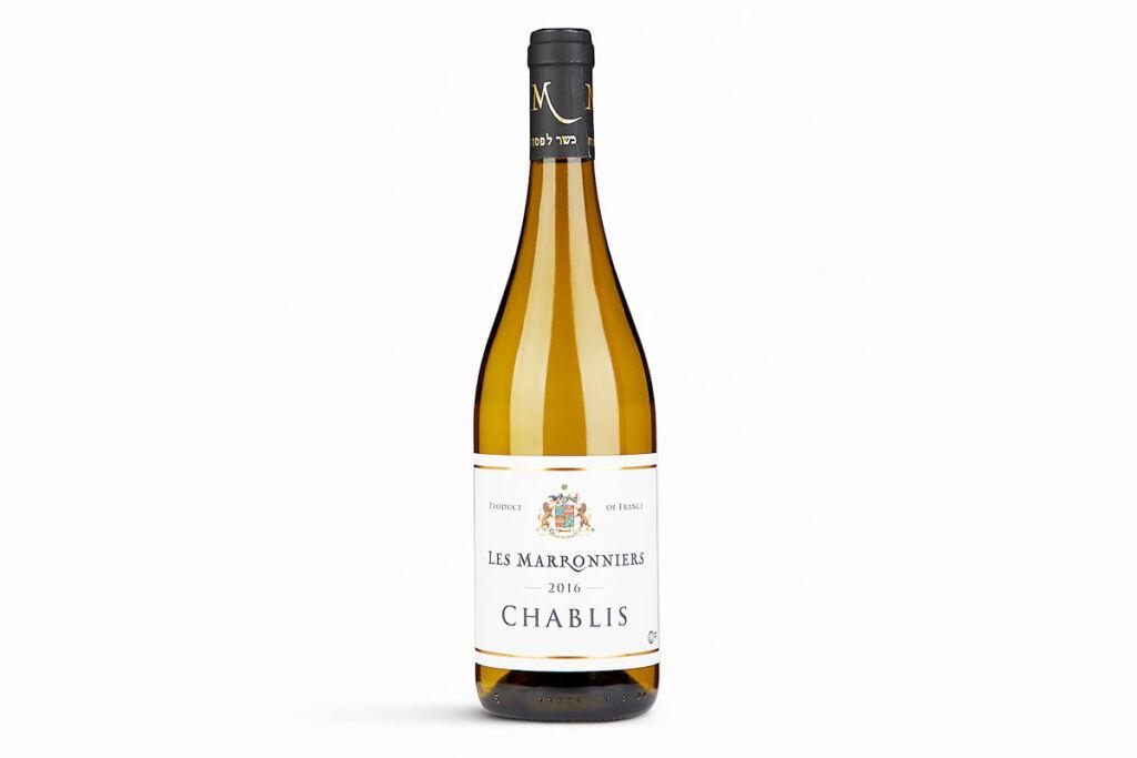 Bottle of Domaine Les Marronniers Chablis France