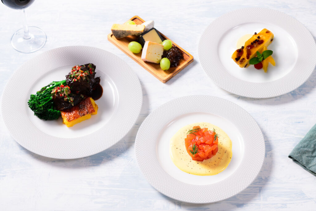 British Airways First Cabin Meal Kit courses