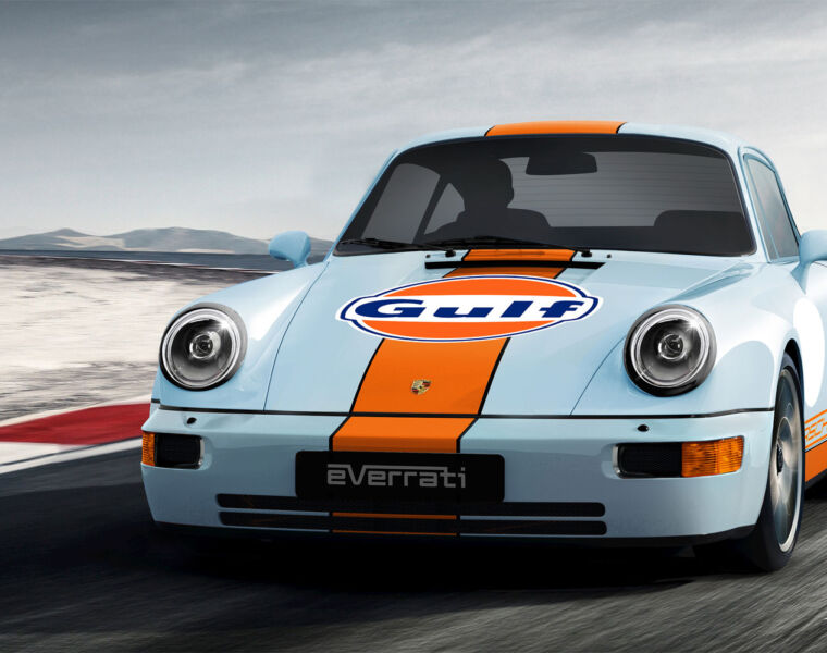 Everrati & Gulf Oil International Bring an Electrifying Blast from the Past Back