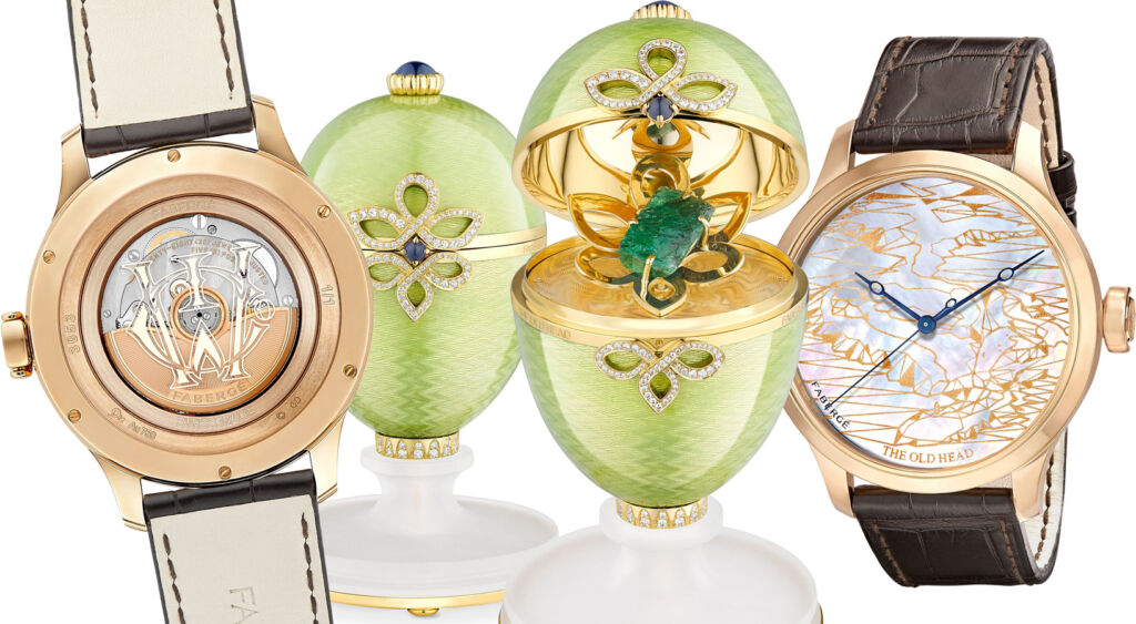 Faberge's The Old Head wristwatch with the bespoke Faberge Egg