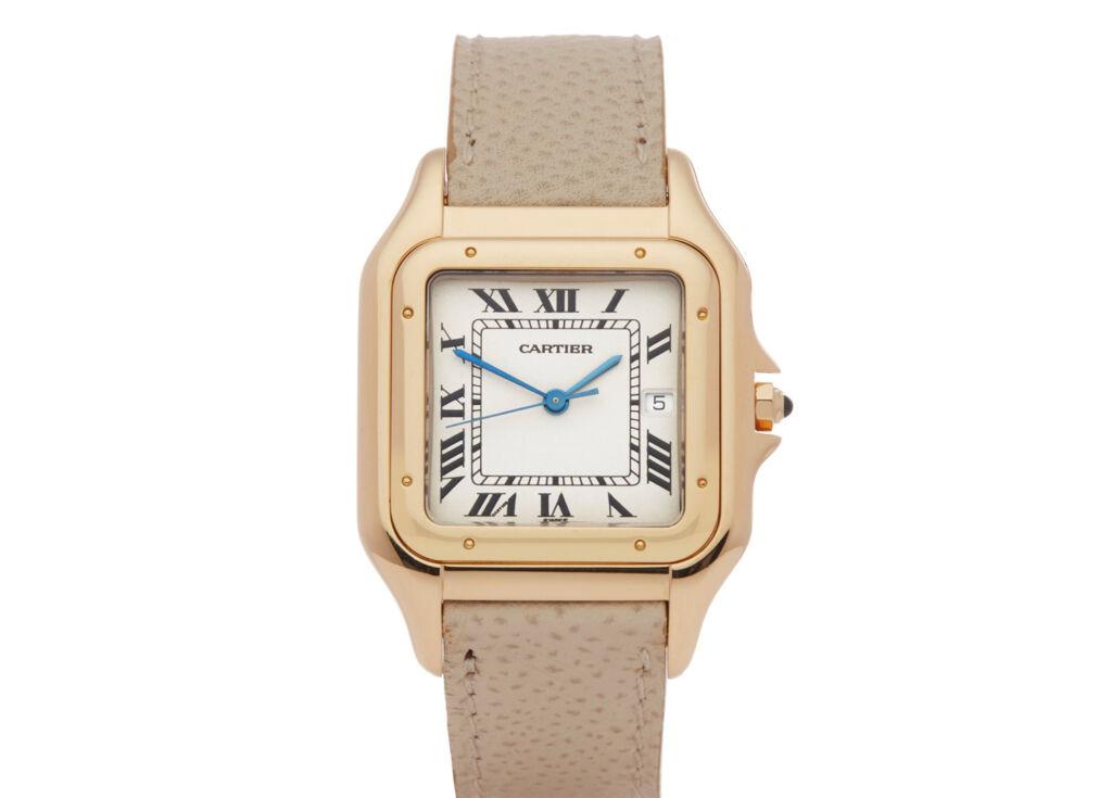 A Gold cased Cartier PANTHÈRE XL