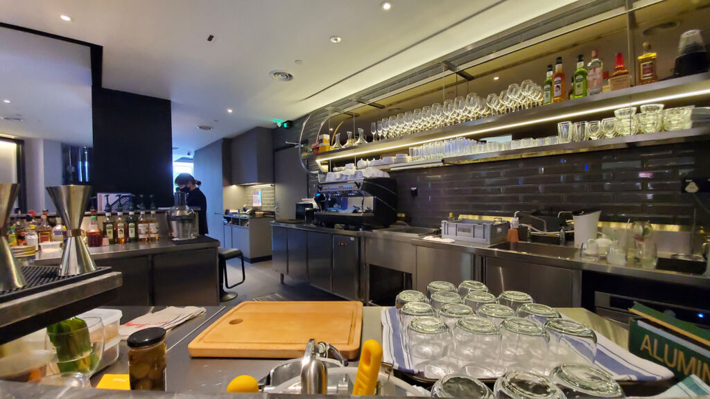 The kitchen at Maria's Signature in KLCC