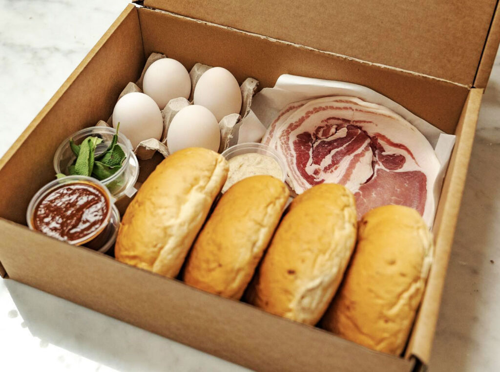 Le Swine Britain's Best Bacon Butty Kit ingredients