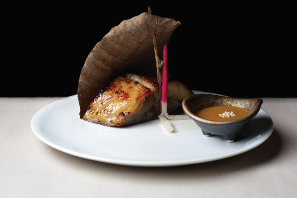 The mouthwatering Asian Black Cod dish