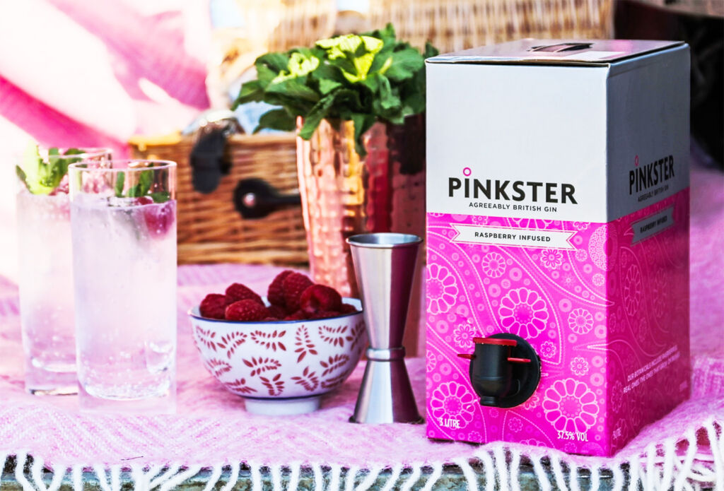 Image showing the three-litre gin on tap box