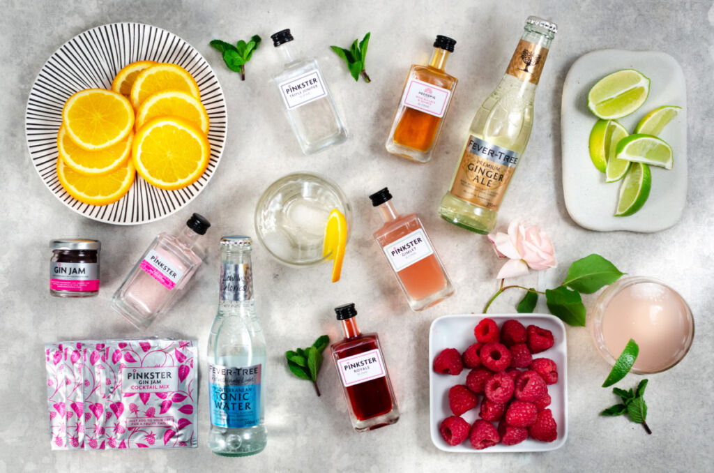 A wide variety of ingredients you can add to change the flavour of gin