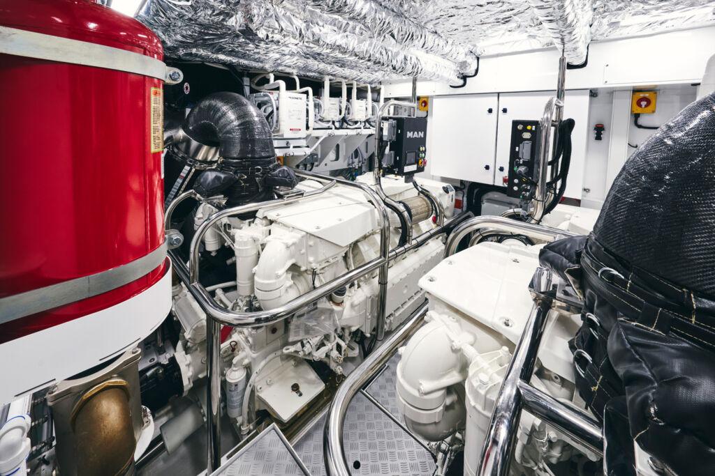 Princess Y72 engine room