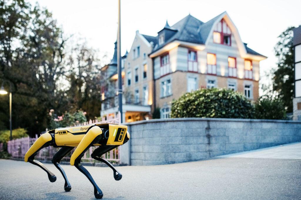 Robotic dog made by the Institut auf dem Rosenberg