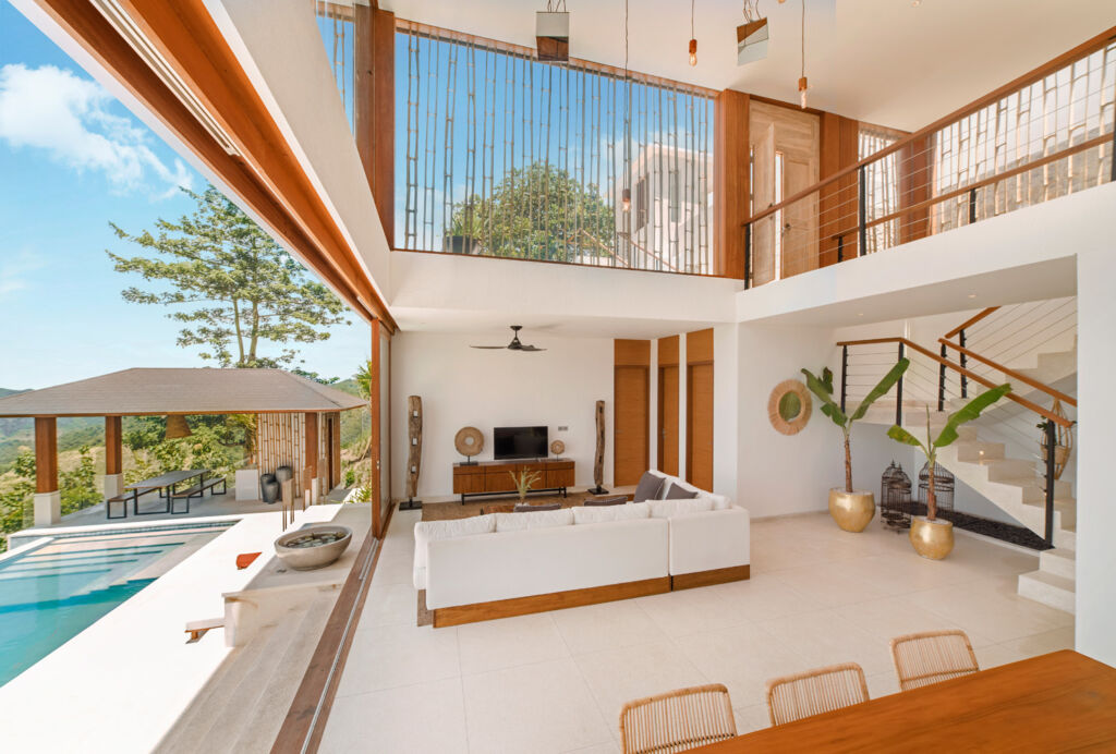A view inside one of the luxurious villas
