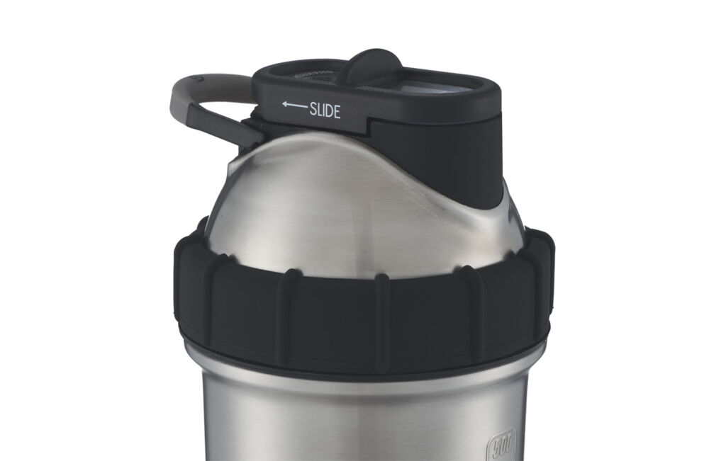 The domed lid on the tumbler