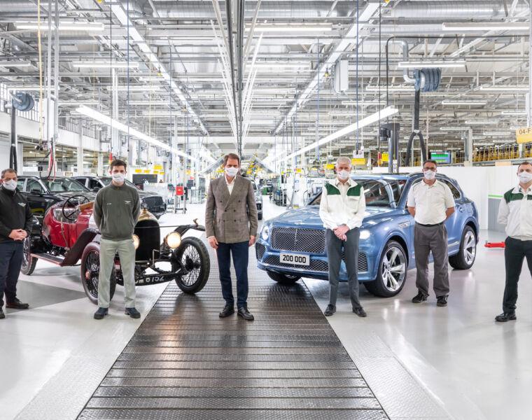 The 200,000th Bentley Car at Crewe