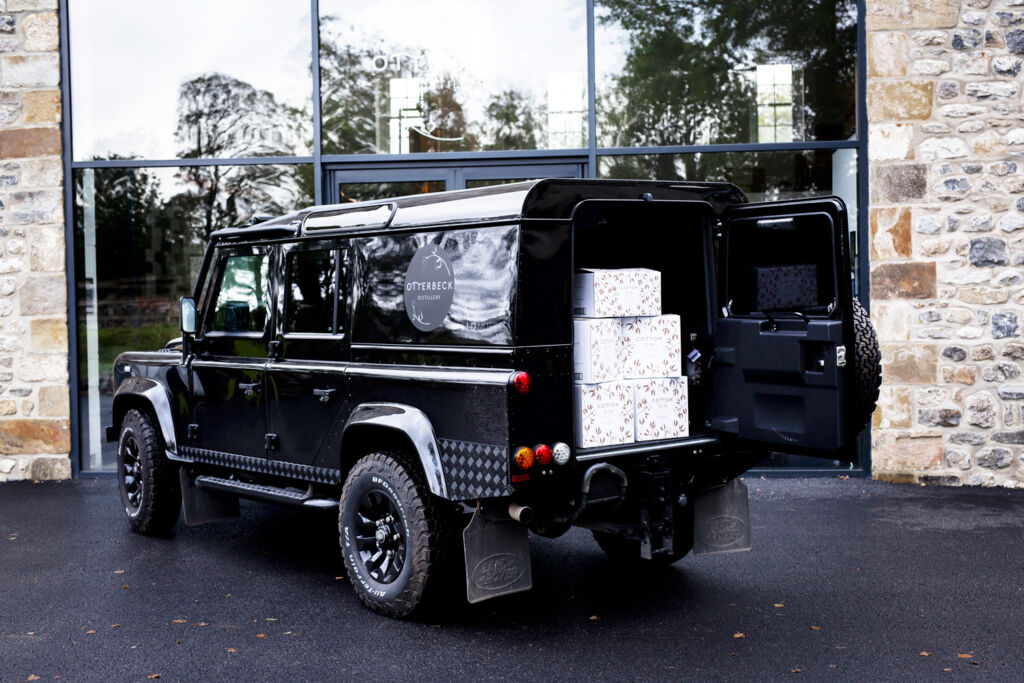 The Otterbeck Distillery Land Rover ready to make some deliveries of Cotton Gin