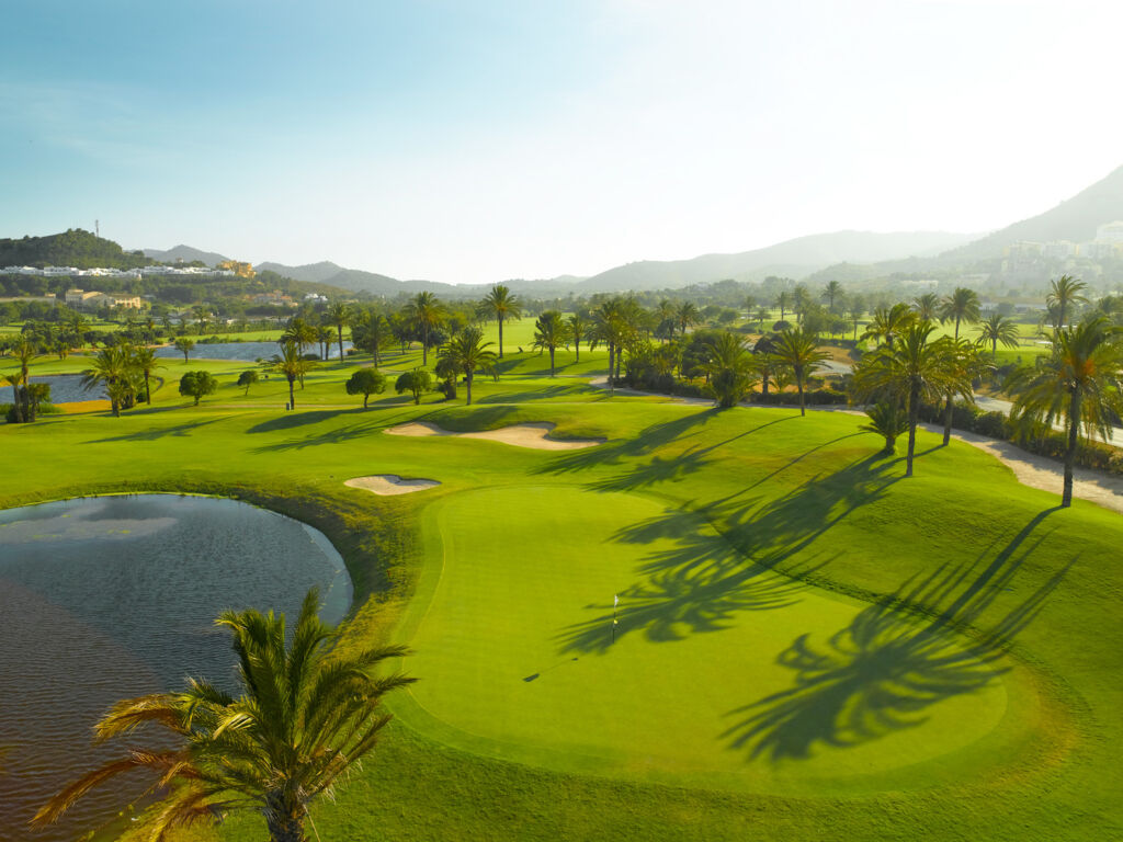View over one of the golf courses at La Manga in Murcia