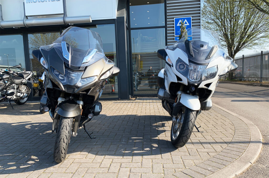 The 2021 R 1250 RT side by side with the model it is replacing