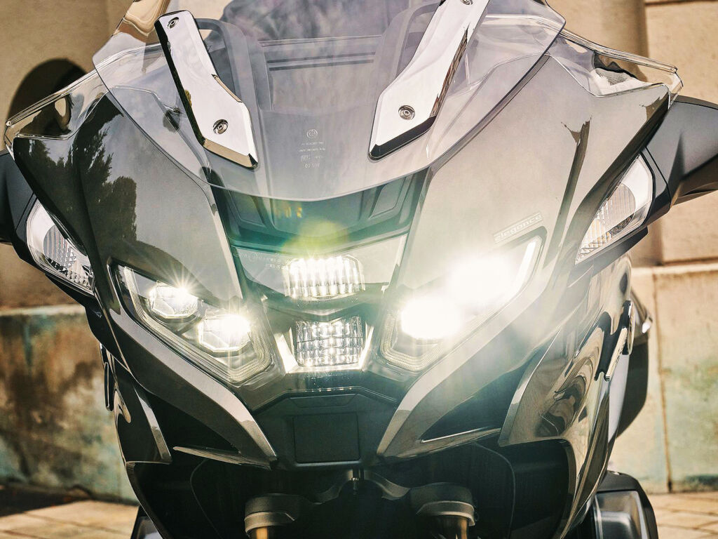 Image showing the new headlight design on the bike