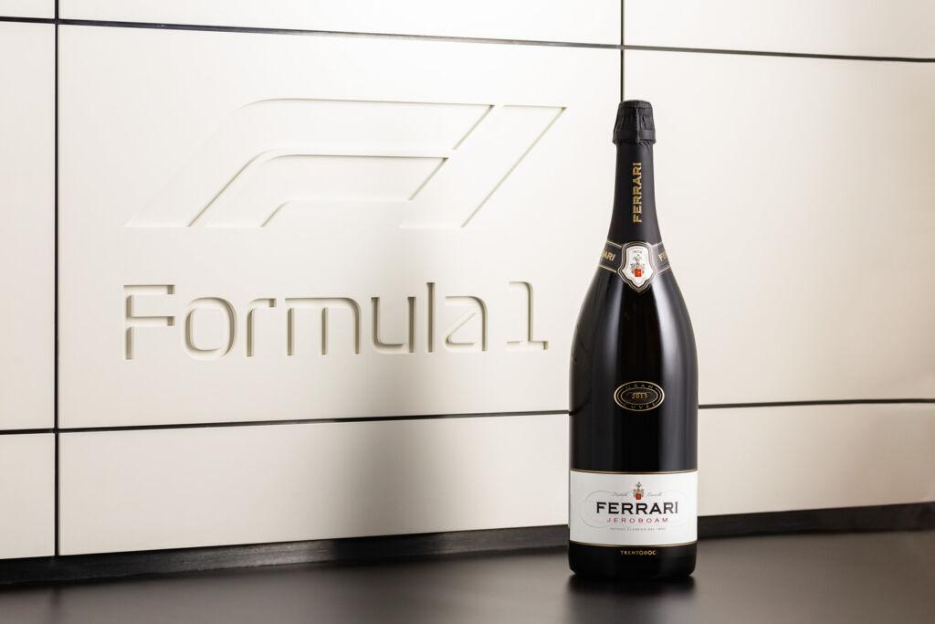 A Jeroboam bottle of Ferrari Trento