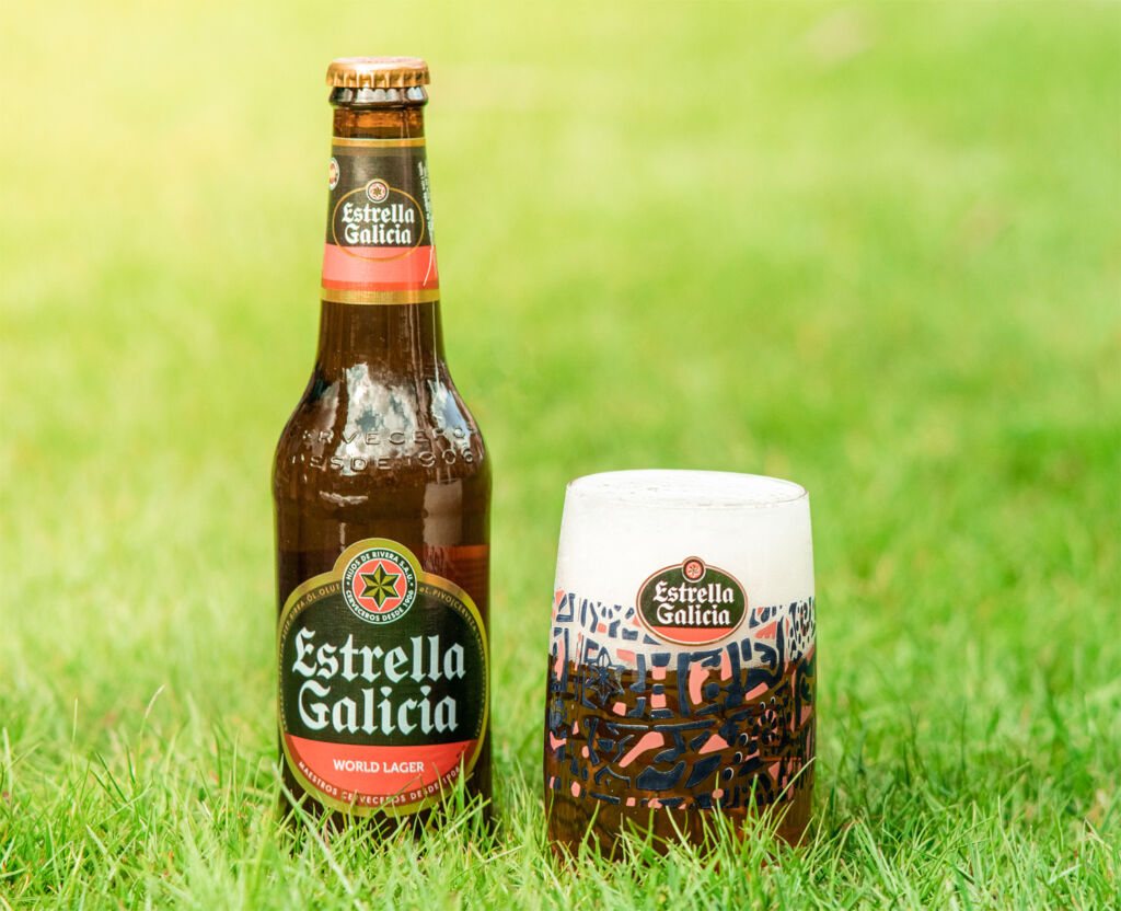 A bottle of Estrella Galicia, perfect for the hot summer months