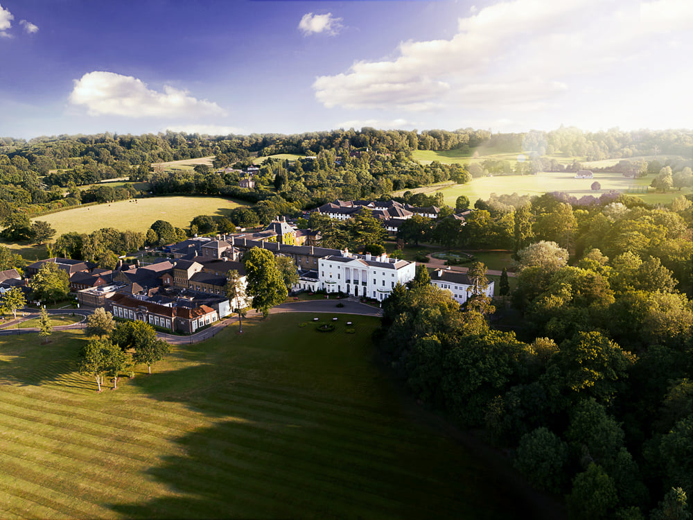 An aerial view of the De Vere Beaumont Estate